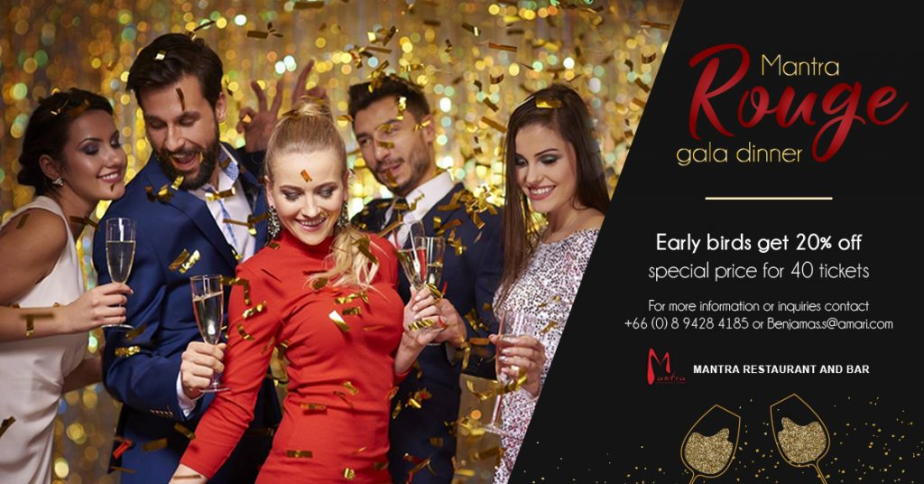 Join Mantra's Rouge New Year Gala Dinner