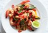 Garlic Prawns with Chilli and Thai Basil