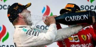 Valtteri Bottas wins Azerbaijan Grand Prix with Lewis Hamilton second