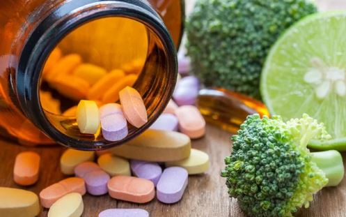 vitamins and food
