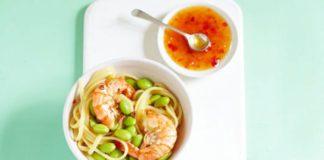 Thai Sweet Chilli Prawn and Pasta Recipe