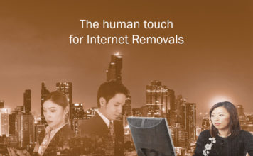 The human touch  for Internet Removals