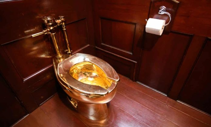 golden toilet