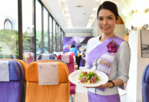 THAI AIRWAYS SERVES INFLIGHT MEALS AT NEW PLANE-INSPIRED RESTAURANT