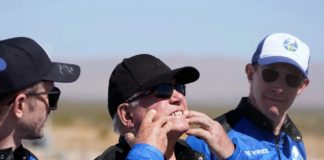 Star Trek icon William Shatner, lands safely back to Earth