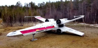 Siberian Star Wars Fans Build Life-Size X-Wing Fighter
